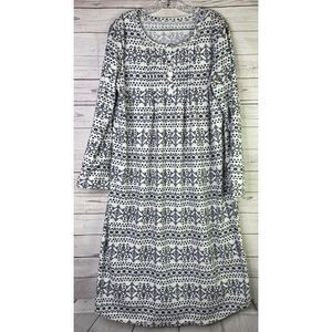 Croft & Barrow Fleece Nightgown L
